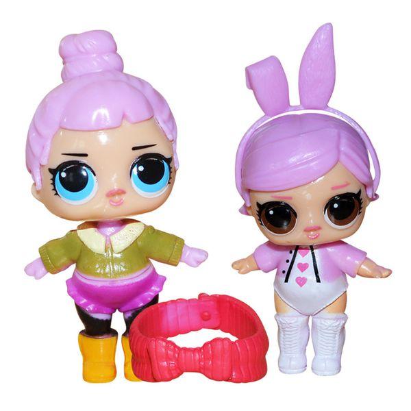 9CM Dolls with feeding bottle American PVC Kawaii Children Toys Anime Action Figures Realistic Reborn Dolls for girls 8Pcs/lot