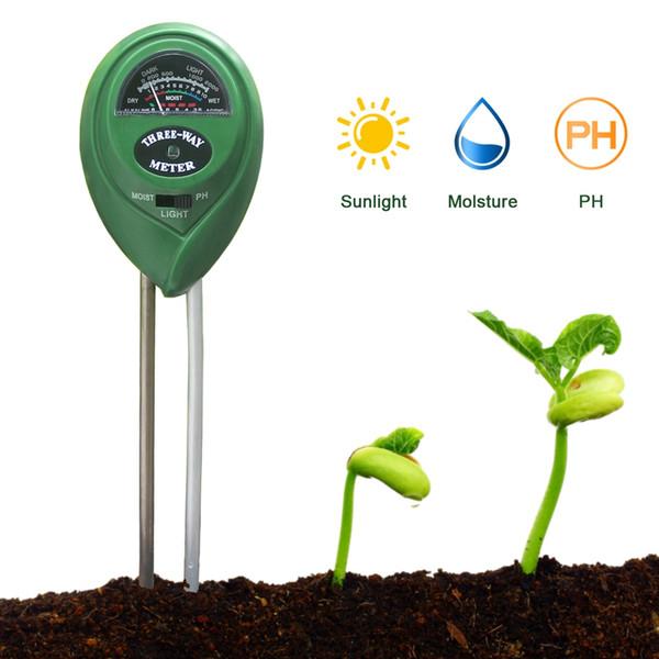 best selling 3 in 1 Soil PH Meter 3.5-8 pH Soil Moisture PH Sunlight Tester Light Humidity Measurement Tools for Garden Plant Greenhouse