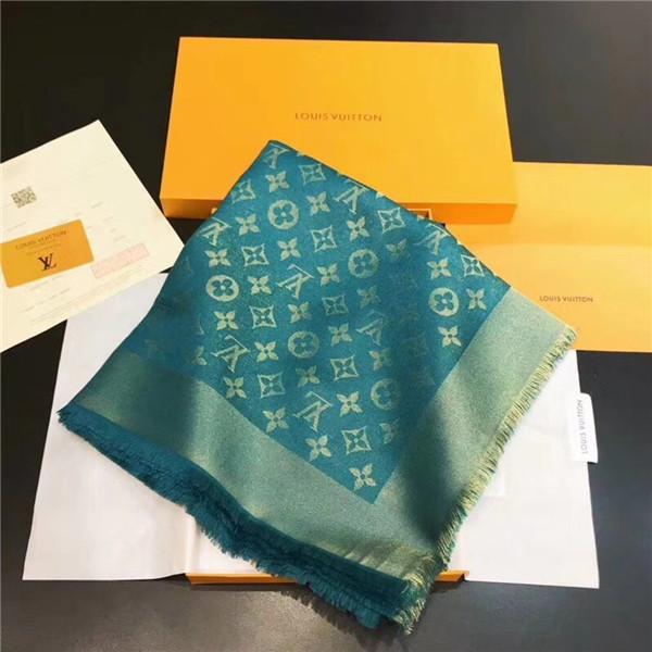 Moda feminina outono e inverno lã adicionar lenço de seda tamanho 140 * 140 carta flor lenço sem caixa