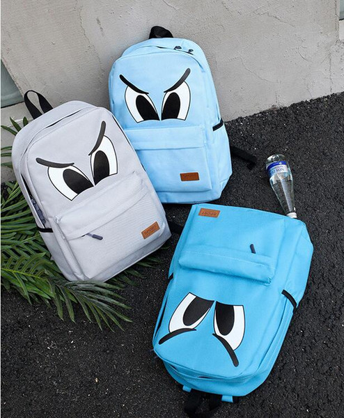 new Little monsters high quality College wind bag justin bieber shark Large capacity travel Back pack Free delivery