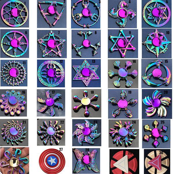 arcobaleno metallo fidget spinner stella fiore cranio drago ala mano Spinner per autismo ADHD bambini adulti antistres giocattolo EDC Fidget giocattolo