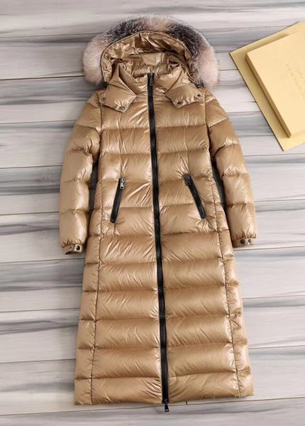 women's down parkas long thick large size coat female fur collar hooded winter new loose european authentic outdoor leisure skiing 10z