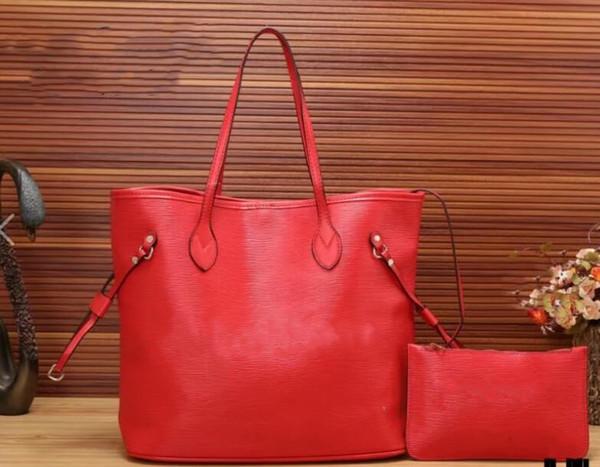 Borse Designer donne borse di lusso del progettista Borse compositi donne spalla manico borse delle donne della borsa con la Portafogli Rosso Nero
