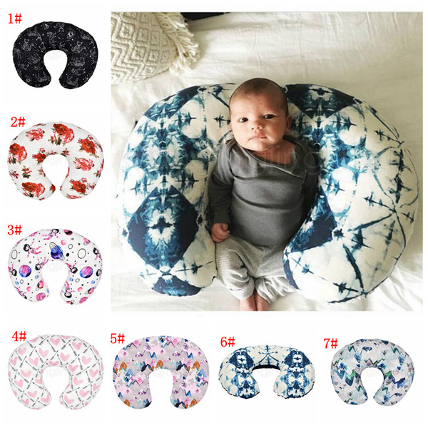 top popular 7styles Feeding Nursing Pillowcase U Shaped Baby Food Maternity Case Neck Care Newborn Girls Boys Breastfeeding bed Pillow Cover FFA2886-1 2021