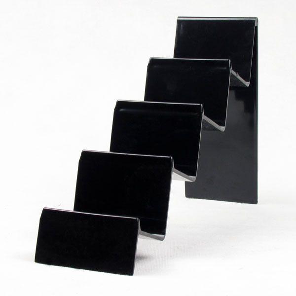 Оптовая 3шт пластиковые многофункциональный ясно / черный бумажник телефон дисплей стенд держатель карты стойку 4 слоя