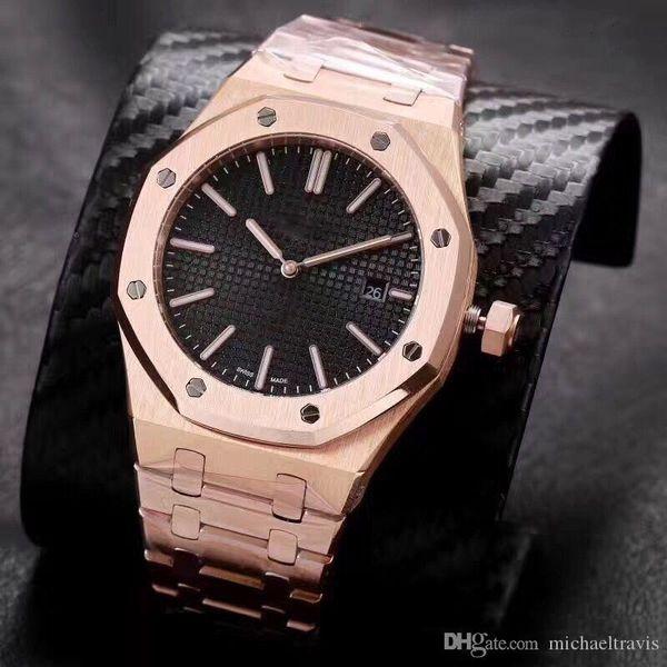 New Back Open Watch Men 39мм 2 Pointer Автоматические механические часы из нержавеющей стали Часы 1102