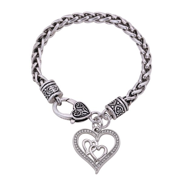 Myshape Wholesale Retail Fashion New Design New 2018 Fasion Jewery Love Couple Heart Shaped Chain For Bracelets