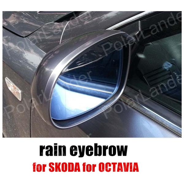 Octavia 09-13 için SKODA için 2 adet Araç Dikiz Aynası Kaş Yağmur Gölge Yağmur suyuna dayanıklı Bıçaklar Yağmur kapağı
