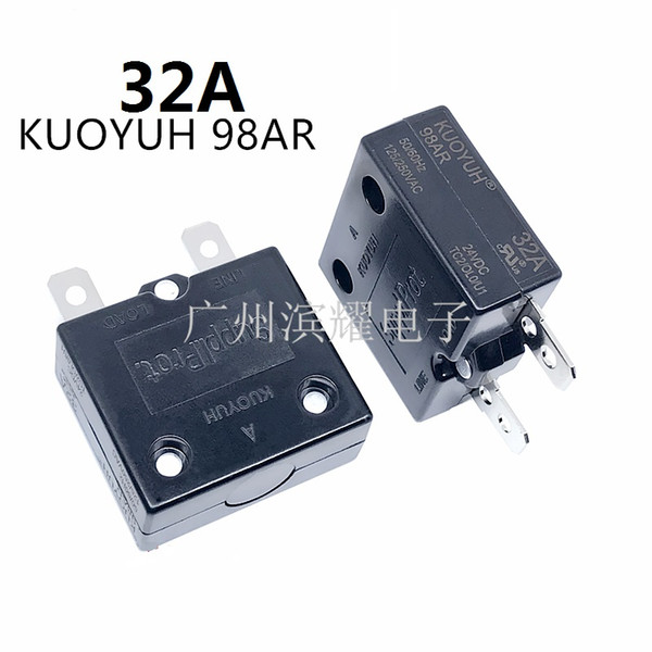 best selling Taiwan KUOYUH 98AR-32A Overcurrent Protector Overload Switch Automatic Reset