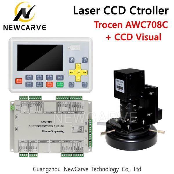 Trocen Anywells AWC708C CCD CO2 visuel système laser DSP Controller pour Laser Cutter Graveuse NEWCARVE