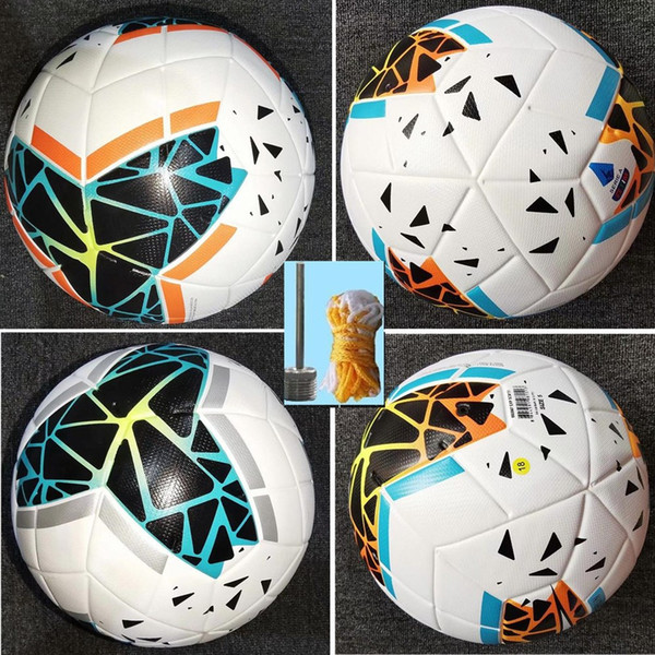top popular 19 20 Best quality Club Serie A League match Soccer ball 2020 size 5 balls granules slip-resistant football Free shipping high quality bal 2021