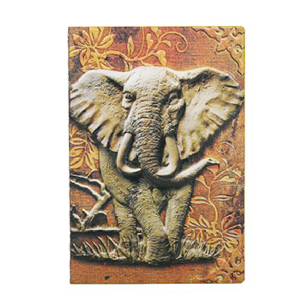 New Elephant Cover A5 Notebook Vintage Journal Retro Notepad Relief Effect Cute European Diary Office Stationery Kawaii