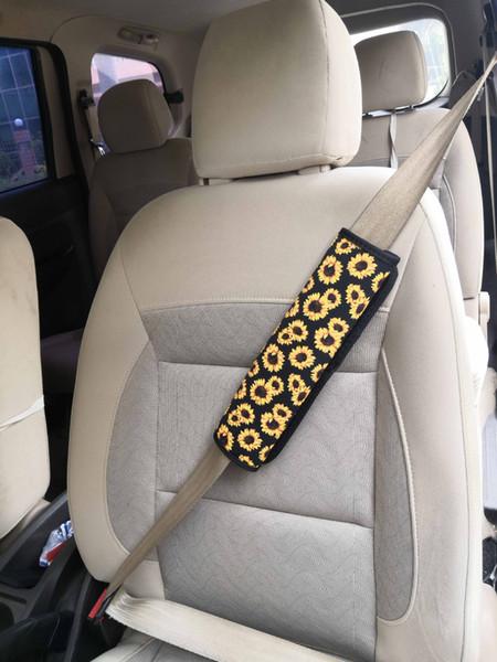 Ceinture de sécurité Couvre tournesol néoprène voiture Épaulières automatique des ceintures de sécurité Bracelet manches Cactus Leopard 5 modèles en option Livraison gratuite