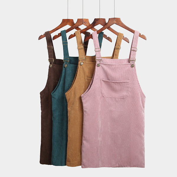 Women Summer Dress Vestidos 2019 Casual Sleeveless Corduroy Party Dresses Female Solid Mini Beach Dress designer clothes