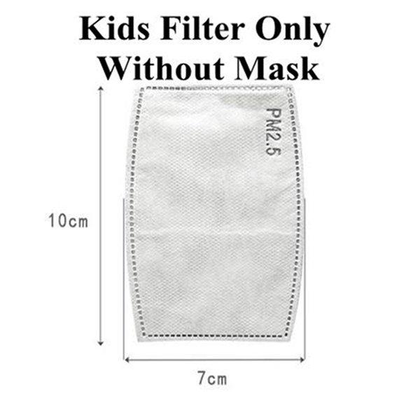 Niños filtro solo, ninguna máscara