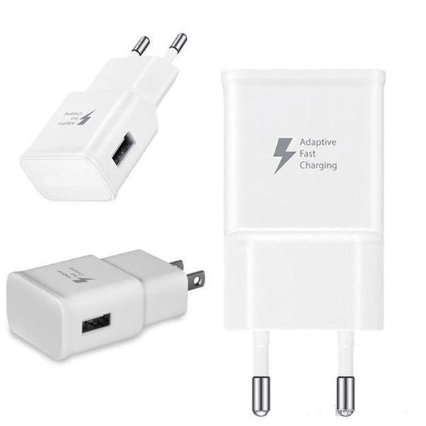 2 en 1 Cargador rápido adaptable 9V Carga rápida 1.5M Cable micro USB UE enchufe de EE. UU. USB Home Wall Kit de adaptador de viaje rápido con caja minorista