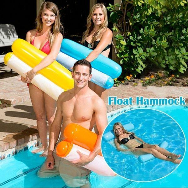 5 colores Piscina inflable Flotante Hamaca de agua Flotador Tumbona Silla de cama flotante Piscina Piscina Hamaca inflable Cama Piscina Plegable al aire libre