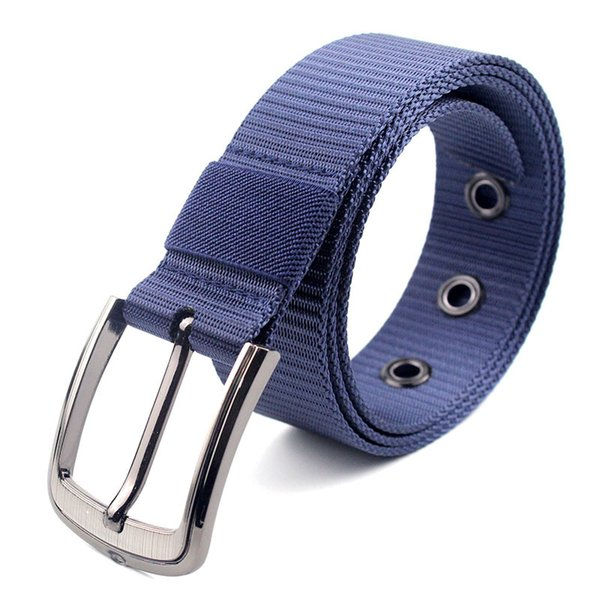 Men's tactical nylon casual outdoor training belt pin buckle