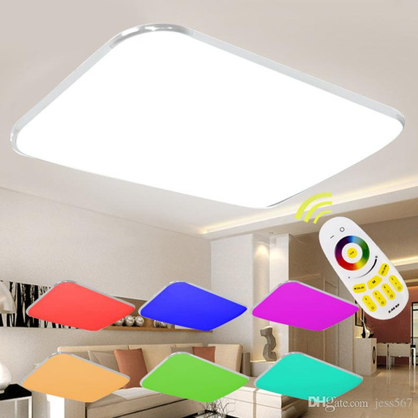 2019 2020 Led Ceiling Lights Modern With Remote Controlled Dimmable Color Changing Lamp For Livingroom Bedroom Ac90 265v From Jess567 88 45
