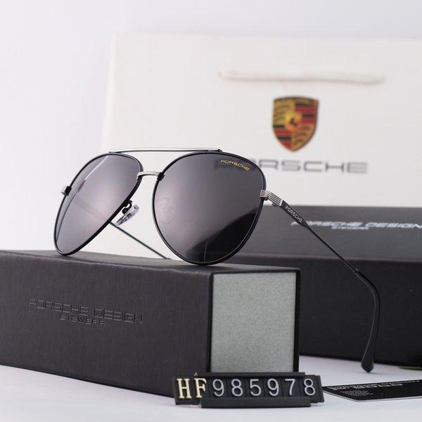Lunettes de soleil pour hommes de marque Lunettes de soleil de luxe P985978 Lunettes de soleil de designer de mode pour hommes en verre UV400 4 Style avec cadre intégral