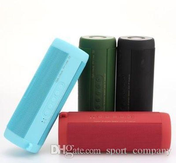Tragbare Bluetooth-Lautsprecher-LED-Taschenlampe Im Freien wasserdicht Subwoofer Wireless Mini-Fahrrad-FM Stereo Laute Lautsprecher Taschenlampe