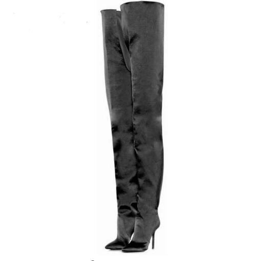 New Styles Fashion Design Tall Boots Knee-High Women Shoes classics Boots good quality Full Leg high heel