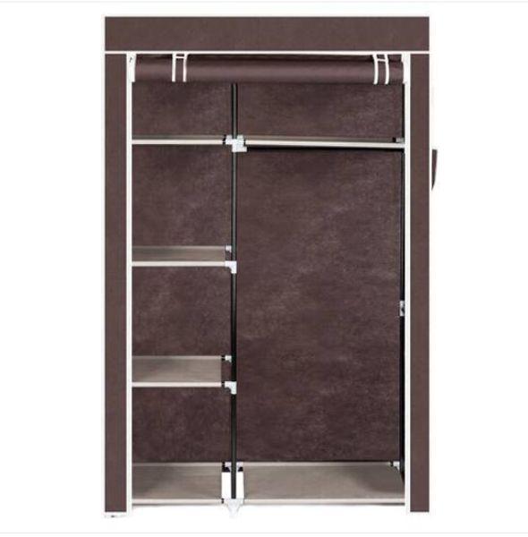 "Sales!!! Free shipping 64"" Portable Closet Storage Organizer Wardrobe Clothes Rack with Shelves"