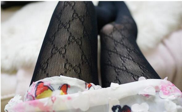 Spedizione gratuita gc senza scatola donne collant moda logo collant sexy sottile pagliaccetto jacquard calze di seta estate femminile calzini sexy di pizzo