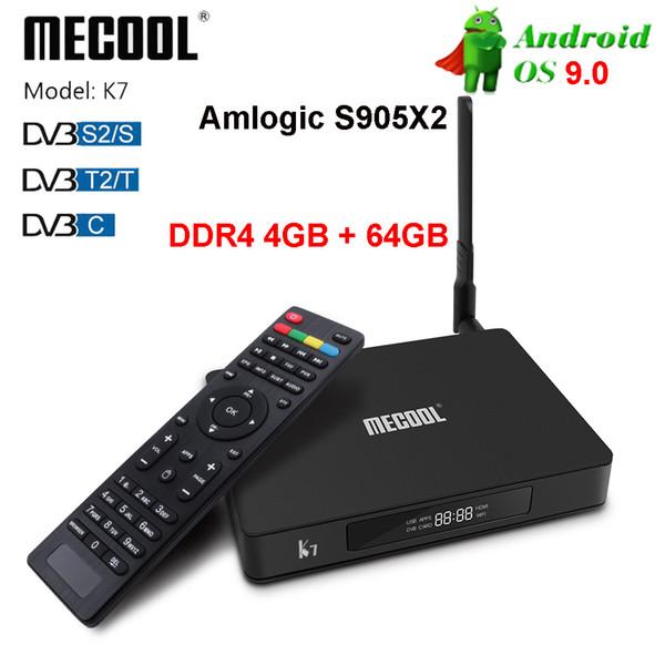 Bester Preis K7 DVB S905X2 4GB 64GB Android Fernsehkasten dvb t2 s2 Update von K3 Fernsehkasten 4k LCD-Zeitanzeige