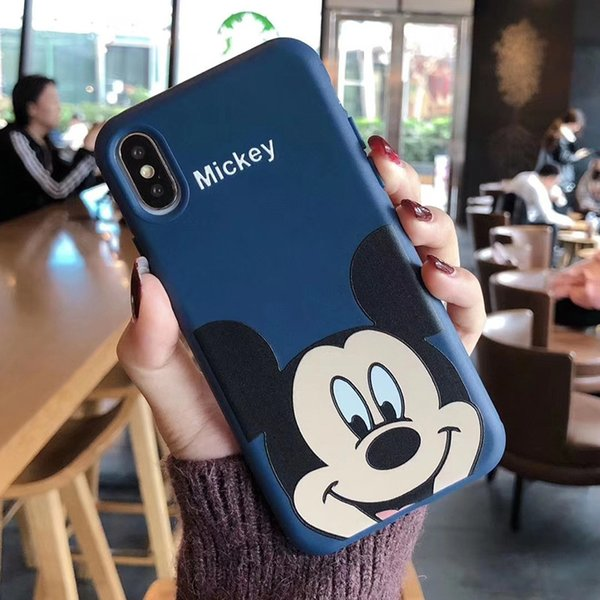 One Piece Luxury phone case For iPhone 6S 7 8 P X XS XR fashion famous cartoon characters Designer phone case back cover