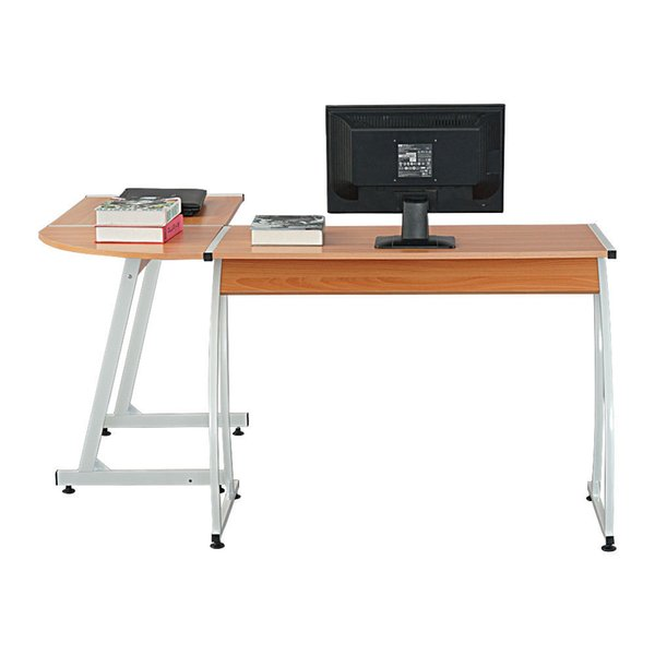 2019 New L Shaped Desk Office Computer Glass Corner Desk With Keyboard Tray  From Jiaozongxiao668, $62.31 | DHgate.Com