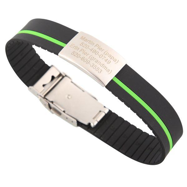 Black-Green stripe-Can be cut short