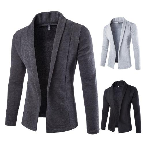 2019 New Style Fashion Mens Casual Long Sleeved Sweater Solid Personality Turn-down Collar Cardigan Sweater M-xxl Nz163