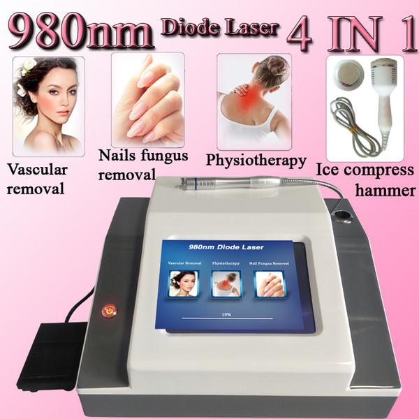 980nm diode laser spider enlèvement de veines machine laser traitement de la douleur machine ongle enlèvement de champignon ongle 4 EN 1 machine de beauté