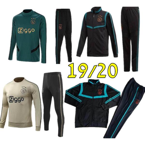 Hot 2019 2020 Ajax FC Tuta da calcio 18 19 20 survêtement TADIC HUNTELAAR DOLBERG SCHONE ZIYECH Tuta da calcio chandal