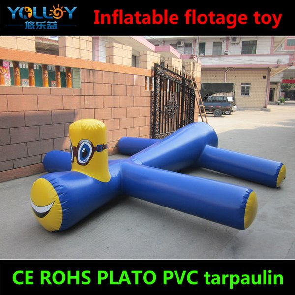 High durable waterpark toy Inflatable Floating Water Birds crocodile clown in PVC tarpaulin with CE ROHS certification
