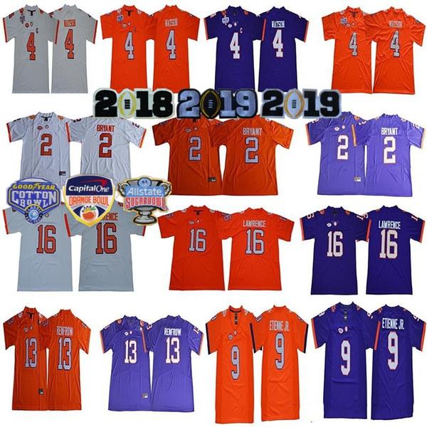 2019 Finals Cotton Bowl NCAA Clemson Tigers 16 Trevor Lawrence Jersey 2 Kelly Bryant Deshaun Watson 9 Travis Etienne Jr Hunter Renfrow 2018