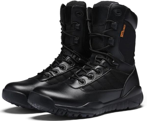 chaussures d'équitation Quatre saisons motos bottes de chevaliers chaussures de moto tout-terrain bottes en cuir imperméables bottes pour hommes