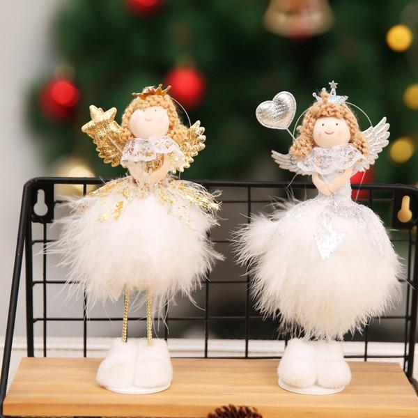 Janela da Tabela de Árvore de Natal DIY pingente ornamento do presente do boneco Toy Boneca Início Birthday Party Decor Árvore de Natal Decoração