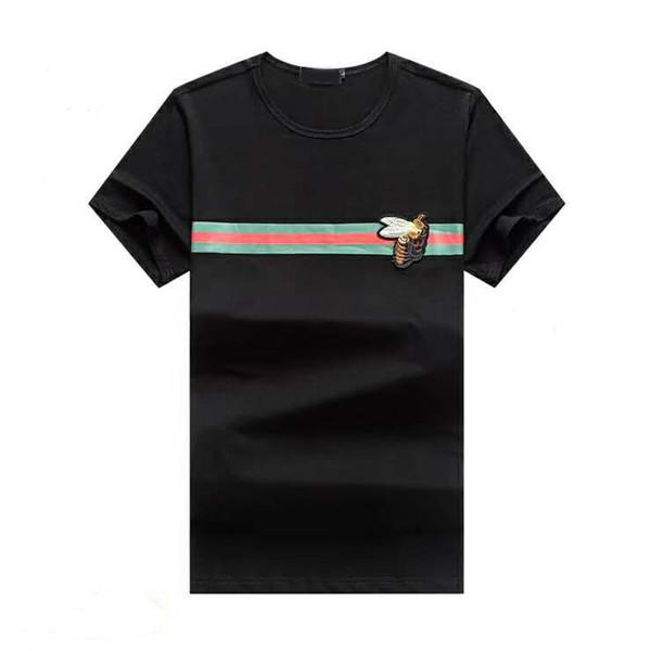 2019 sommer designer t shirts für männer tops tiger kopf brief stickerei t shirt herren clothing marke kurzarm t-shirt frauen tops m-3xl d4