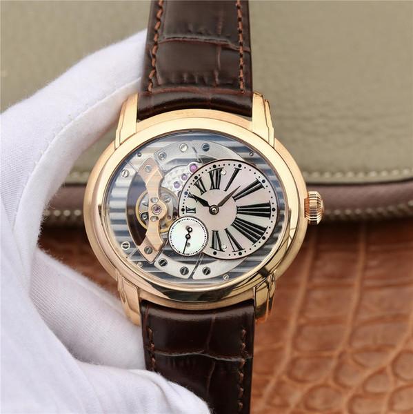 Relógio de luxo V9 à prova d 'água 4101 mens relógios de luxo movimento mecânico automático 41mm essência de aço reloj de lujo