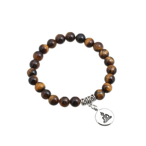 new fashion natural tiger-eyed beaded bracelet yoga beads handmade bracelet natural stone