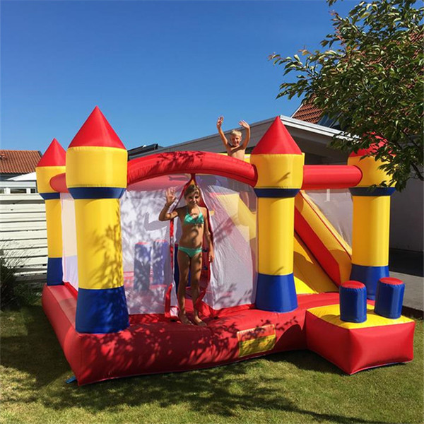 YARD Inflatable Bouncer House Jumping Big Trampoline Slide Bouncer Castle With Blower