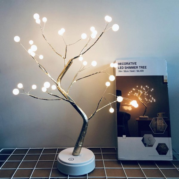 LED Filo di rame Perla Luce Albero di Natale Decorazioni 36 Lampada Perline Senza Batteria Decorazioni di Natale per la casa navidad