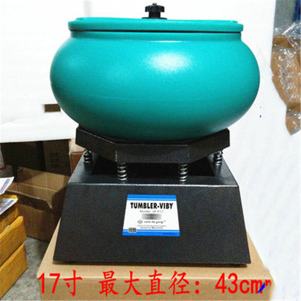 "top popular brand new Super Large Vibratory Tumbler Wet Dry Polisher Polishing Machine 17"" 2021"