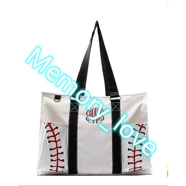 Spor Büyük Organizatör Tote çanta Toptan Kişiselleştirilmiş Beyzbol Programı Tote Çanta Yaz Tuval Duffle Özel tasarım çok amaçlı bez çantalar