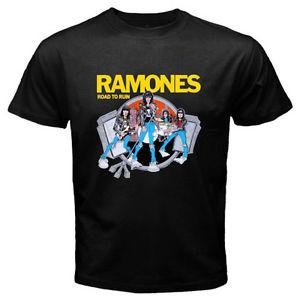 The Ramones Road to Ruin Punk RoArrive Band Legend Men's BlArriverrive T-Shirt Size S to 3XL