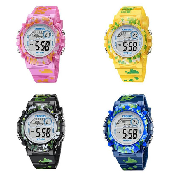 Children Sport Watch Electronic Digital Led Wristwatches Boy Girl Unisex Camouflage Military Watches Water Resistant Gift Watch