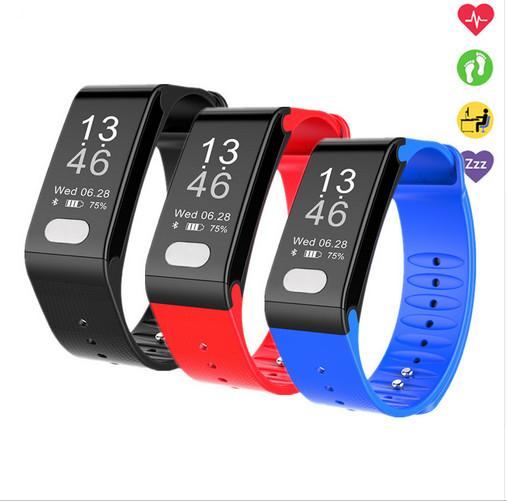 Smart Bracelet T6 Wristband with ECG+PPG Medical Grade Blood Pressure Heart Rate sport Smart Watch for IOS android phone