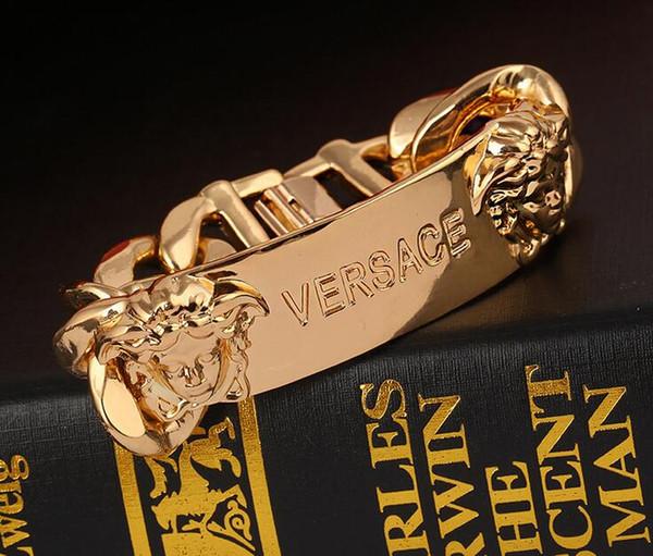 Marke Charme Armbänder mit frauen Kopf Anhänger Gold Punk stil Paar Armbänder Für Frauen Männer Schmuck